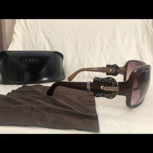 FENDI Brown Buckle Sunglasses FS384R lmtd. edition